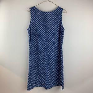 Lerner NY Sleeveless Lightweight Blue Spring Dress